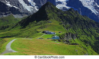 Alps mountains. - Alps mountains panorama.