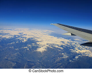 Alps Mountains with snowy peaks