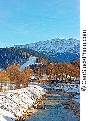 Alps Partnach River at winter Garmisch Partenkirchen