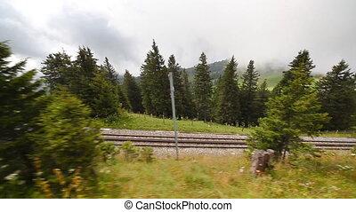 Alps railroad travel