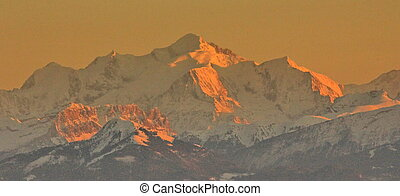 Alps and sunset