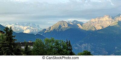 Alps, Vaud, Switzerland - View on the Alps, Vaud,...