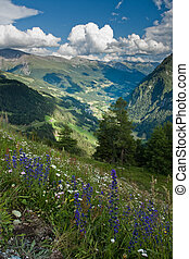 Alps view from Grossglockner High Alpine Road