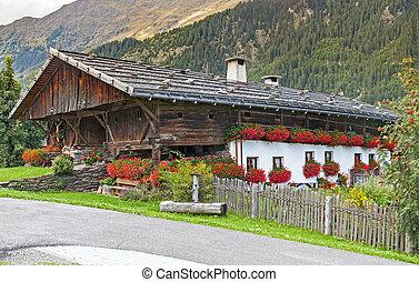 Alps village in Italy