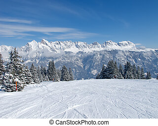 alps, winter