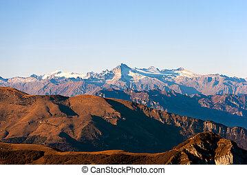 alpy, góra, grupa, -, adamello, włoski