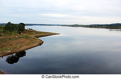 alqueva, lago, paesaggio