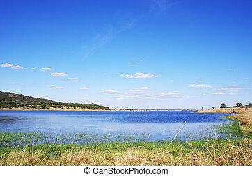 Alqueva Lake near Monsaraz village, Portugal.