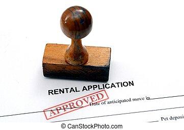 alquiler, aplicación, -, aprobado