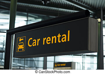 alquiler de coches, señal