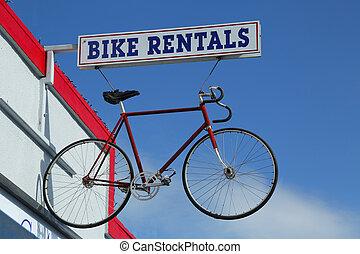 alquileres, bicicleta