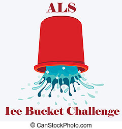 ALS Ice Bucket Challenge concept Ve - Flat vector...