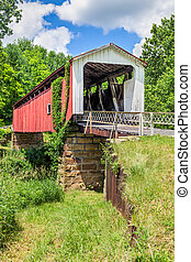 Hills Covered Bridge - Also known as the Hildreth Covered...