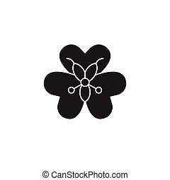Alstroemeria black vector concept icon. Alstroemeria flat...