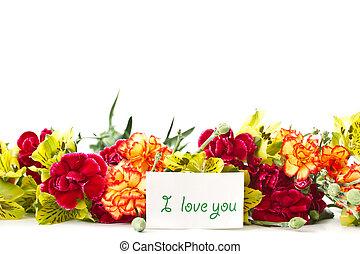 alstroemeria, bloemen, liefde, verklaring