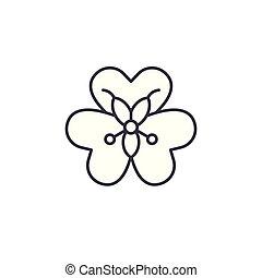 Alstroemeria flower line icon concept. Alstroemeria flower...