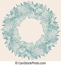 Alstroemeria round frame background