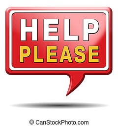 alstublieft, helpen