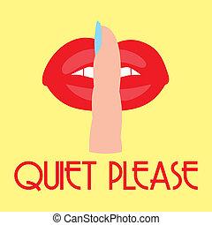 alstublieft, stille , meldingsbord