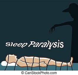alszik, paralízis, természetfölötti, esemény