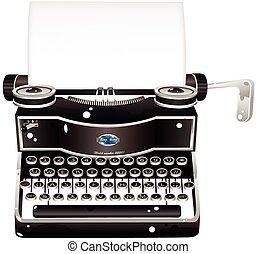 alt gestaltet, schreibmaschine