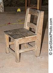 Holzstuhl Alt dunkel altmodisch holzstuhl wand altmodisch gegen