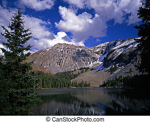 Alta lake in the Uncompahgre National Forest, Colorado.