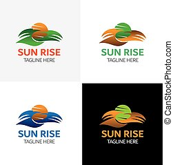 alta sol, modelo, logotipo
