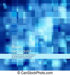 alta tecnologia, experiência., abstratos, mosaico