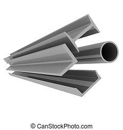 alta tecnologia, fondo, -, acciaio