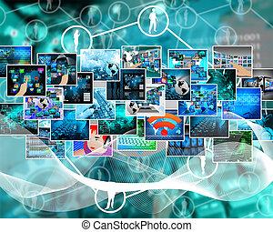 alta tecnologia, imagens