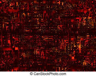 alta tecnologia, sfondo rosso