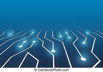 alta tecnologia, tábua circuito, fundo, abstratos, fundo
