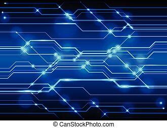 alta tecnologia, tábua circuito, fundo, tecnologia, azul, circuito, abstratos, fundo