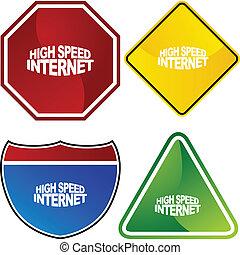 alta velocità, internet