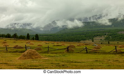 Altai mountains. Beautiful highland landscape. Russia...