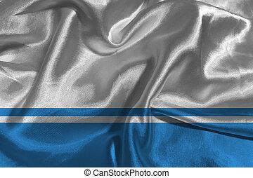 Altai Republic flag 3D illustration symbol.