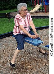 altalena, 2, nonna