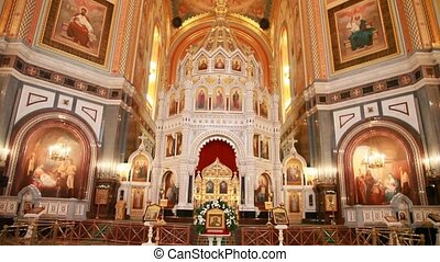 Altar and main dome in Christ the Savior Cathedral - altar...