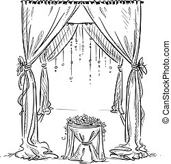 altar, arch., casório