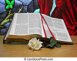 altar, biblia