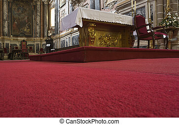 Altar carpet - Evora's cathedral main altar carpet , ...