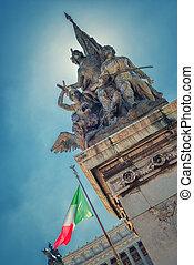 altar, de, a, fatherland, roma