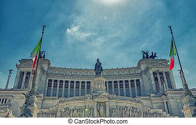 altar, de, el, fatherland, roma