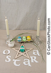 Altar for Ostara sabbath