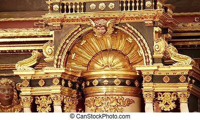 Altar in a church - video Footage of a Altar in a church