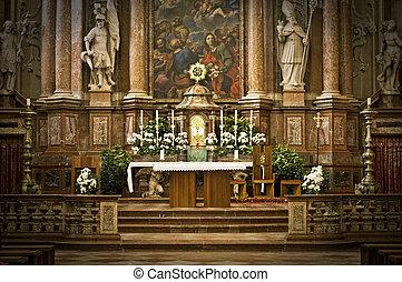 Altar in an Abbey in Austria