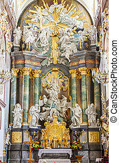 Interior of Basilica in Jasna Gora Sanctuary, Czestochowa, Poland.