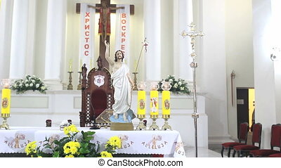 Altar in Catholic Church on Easter