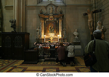 Altar in Zagreb cathedral